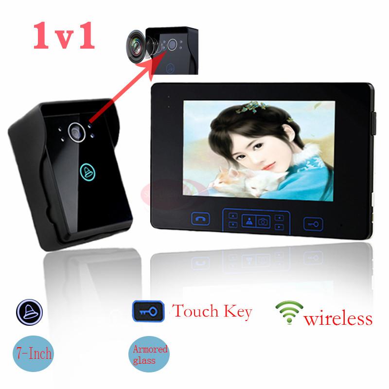 Free shipping wireless video intercom video door phone wireless intercom photo memory battery working tamper alarm in stock!(China (Mainland))