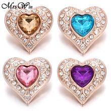 6 sztuk/partia nowy Snap biżuteria mieszane różowe złoto kwiat 18mm zatrzask metalowy przycisk dla kobiet pasuje Snap bransoletka DIY imbir przycisk biżuteryjny(China)