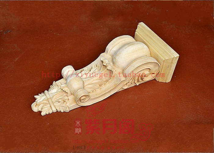 Wood carving solid wood corbel entranceway yakou corbel first door decoration column(China (Mainland))