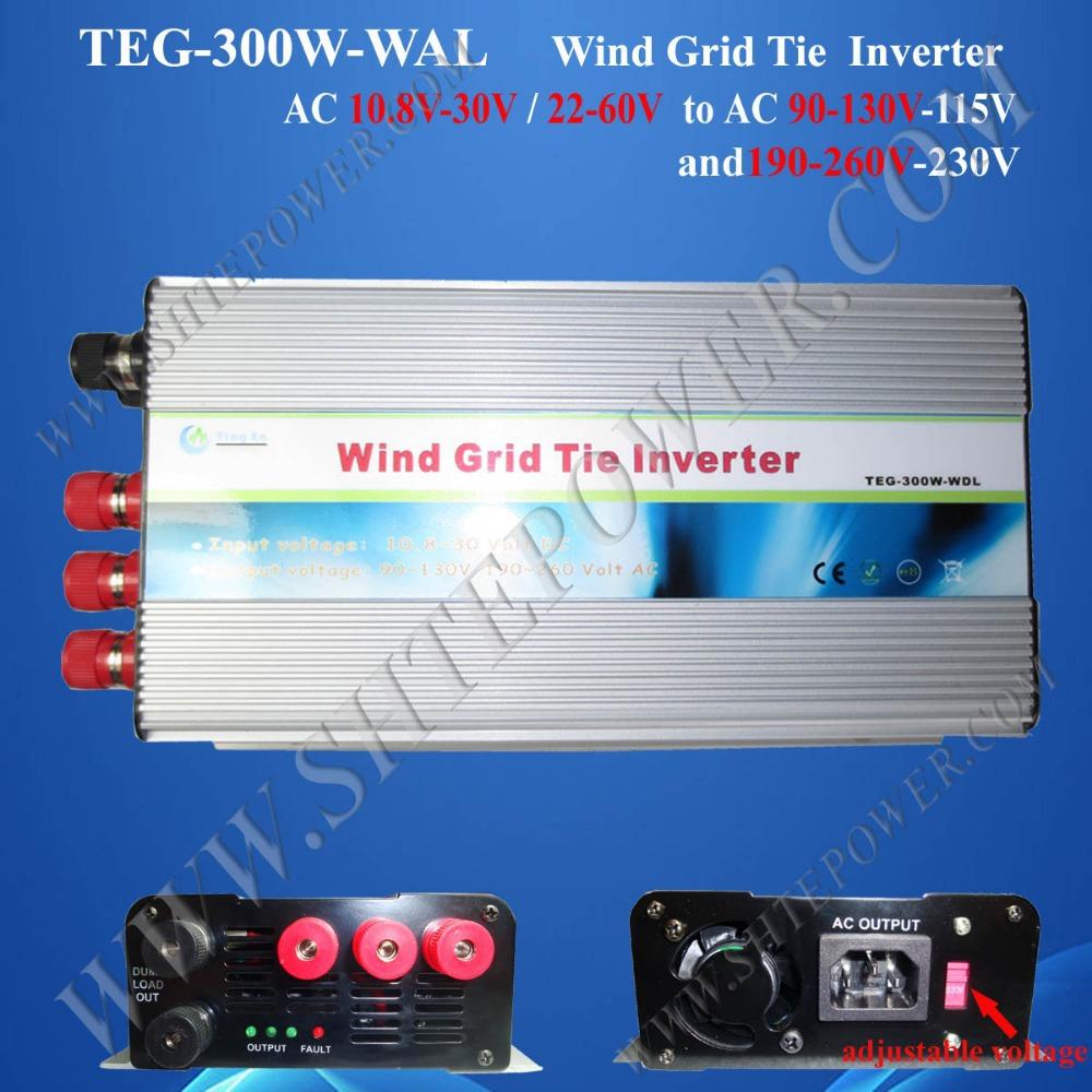 wind grid tie inverter ac24v ac100v 300w with switch(China (Mainland))