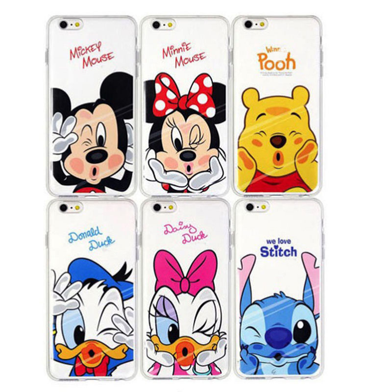Funny Soft TPU Case For Apple iPhone 4 4s 4/4s Cartoon Minnie Mickey Mouse Stitch Daisy Duck Back Cover Coque Capa Para Cases(China (Mainland))