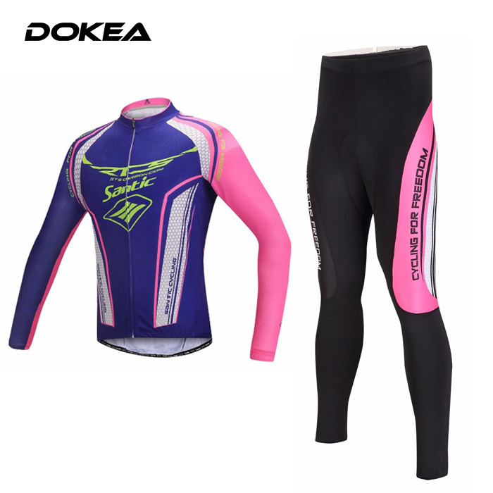 Bicycle Riding Clothes Riding Breathable Silicone Cushion Women Outdoor Long Sleeve Cycling Suits Cycling Jerseys +Cycling Pants<br><br>Aliexpress