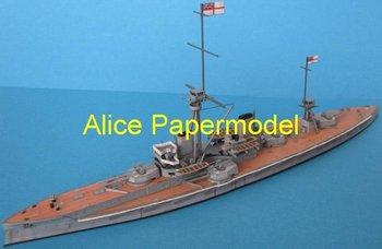 [Alice papermodel] Long 23CM 1:700 HMS Dreadnought Battleship Ironclads battlecruiser warship army models