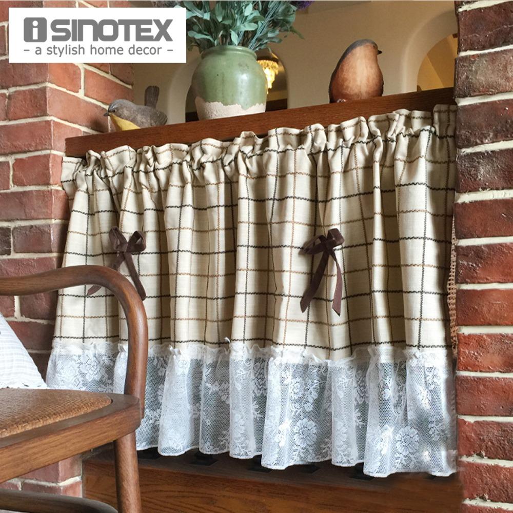 Compra cortinas de encaje para la cocina online al por for Decoracion cortinas cocina