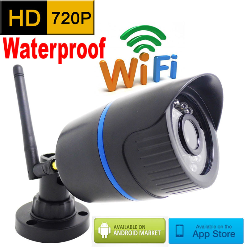 ip camera 720p HD wifi outdoor wateproof cctv security system surveillance mini wireless cam infrared P2P weatherproof mini home(China (Mainland))