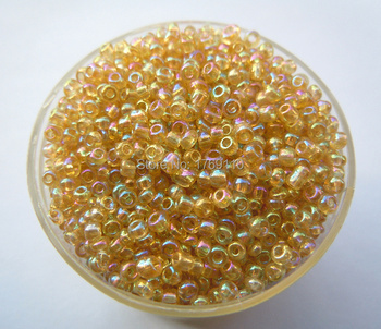 Free Shipping Bright Light Golden Ab 1000Pcs 2mm Czech Glass Seed Spacer Beads Jewelry Making DIY Pick 46 Colors