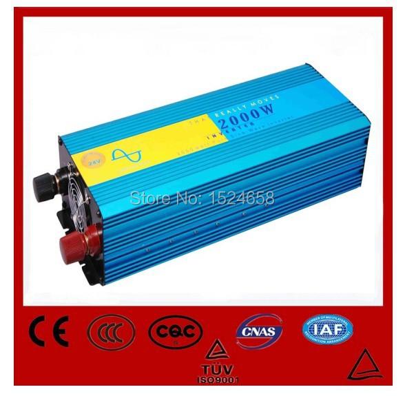 Off Grid Tie Inverter 2000W pure sine wave inverter DC 12V/24V/48V to AC 110V/220V For wind or solar systems peak power 4000Watt(China (Mainland))