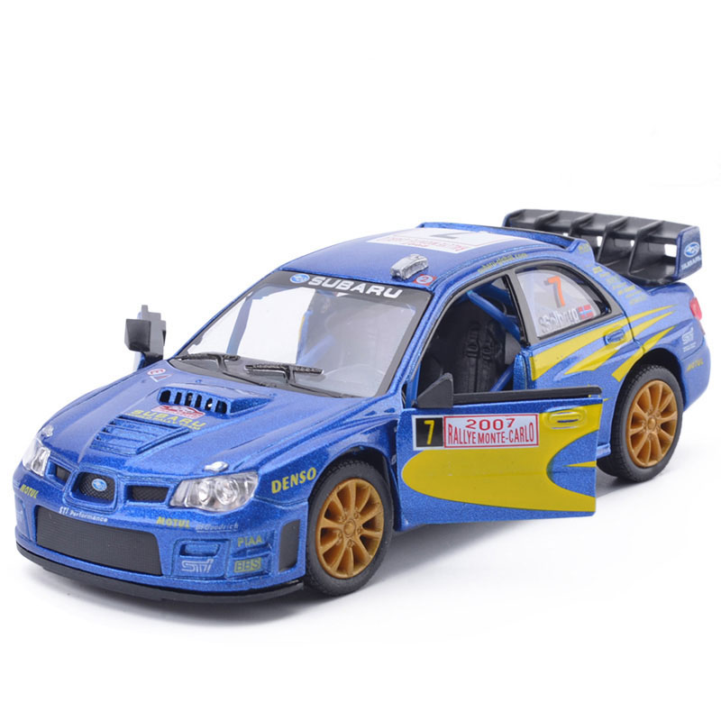 Hot New 1/36 Scale Car Model Toys Subaru Impreza WRC 2007 Racing Car Diecast Metal Pull Back Car Model Toy For KidsGift(China (Mainland))