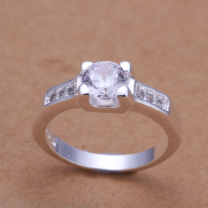 Fine Jewelry,New Arrival Fashion Luxury Round Design Cheap Price 925 Sterling Silver Ring For Women(China (Mainland))