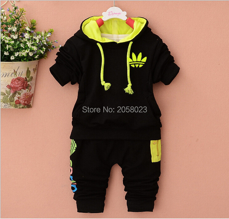 Christmas New 100% Cotton Vestidos Long Sleeves Baby Boys Girls Clothing Sets Unisex Hooded Outwear+Pants 2pc Bebes Tracksuits<br><br>Aliexpress