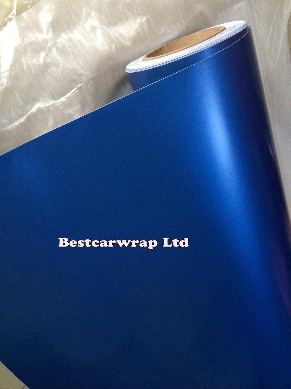 Satin pearl blue matt vinyl car wrap film with air release (5).JPG