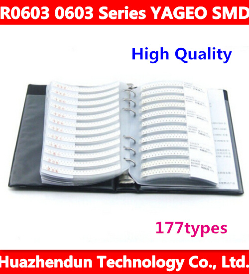 R0603 0603 Series YAGEO SMD Resistor 177types 8850pcs in Total 5% Tolerance Electronic Components Sample Book<br><br>Aliexpress