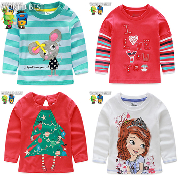 2015 New Fashion Spring Autumn Baby Girl Clothes Hot Baby Girl Long Sleeve Tops T shirt Girl Top And Tee New Baby Girl Clothing