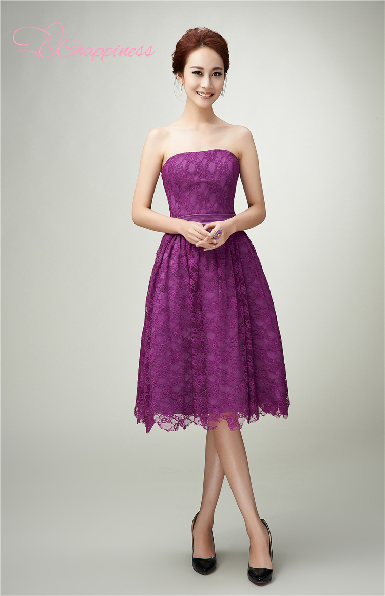 Purple lace bridesmaid dresses the for Dresses for wedding party