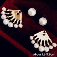 Серьги-гвоздики Lemon9102 Fashion 0419/wt EAR-0419-WT