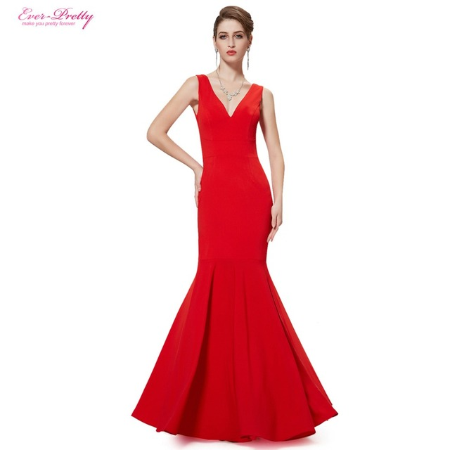 Платья для выпускного вечера женская великолепная V - образным вырезом красный русалка ...