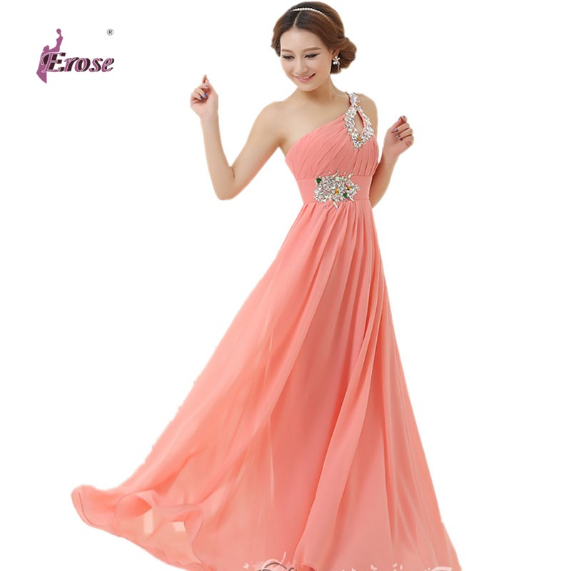 Floor-length Chiffon Long Evening Dress Gown 2016 Long Pink Design Formal evening dresses gown wedding party dress Fast Shipping(China (Mainland))