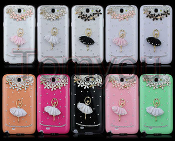 New Fashion Hot sale Ballet girl Hard Back Cover Skin Case For Samsung Galaxy Note II 2 N7100 Free shipping