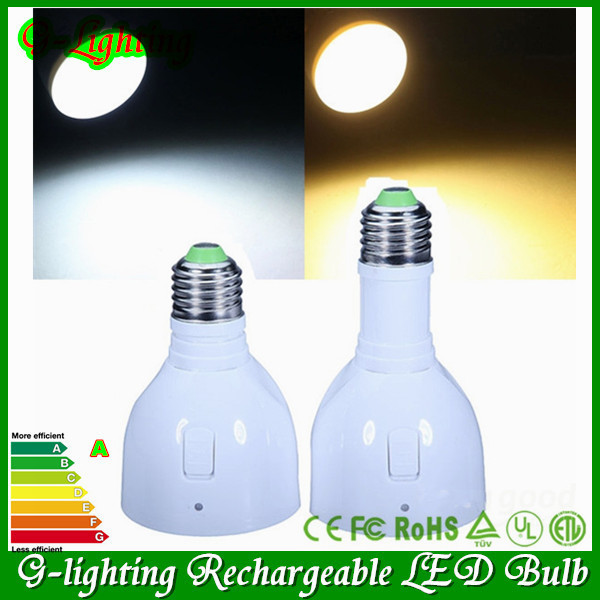 New Multifunctional led light bulb e27 5W Remote control dimmable and rechargeable emergency light bulb/energy saving led lamps(China (Mainland))