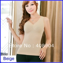 Body make cami seamless Modal slimming vest for ladies looks slimmer instantly wholesale 300pcs(China (Mainland))