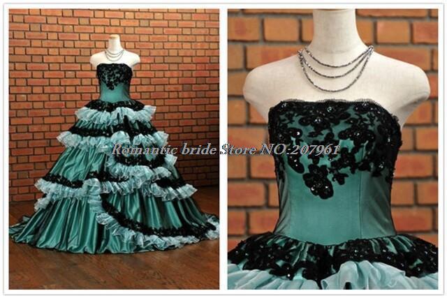 Hot sale Satin Blue with Appliques Strapless ball gown cake Skirt Quinceanera Dresses vestido 15 anos 2015 QUa26(China (Mainland))
