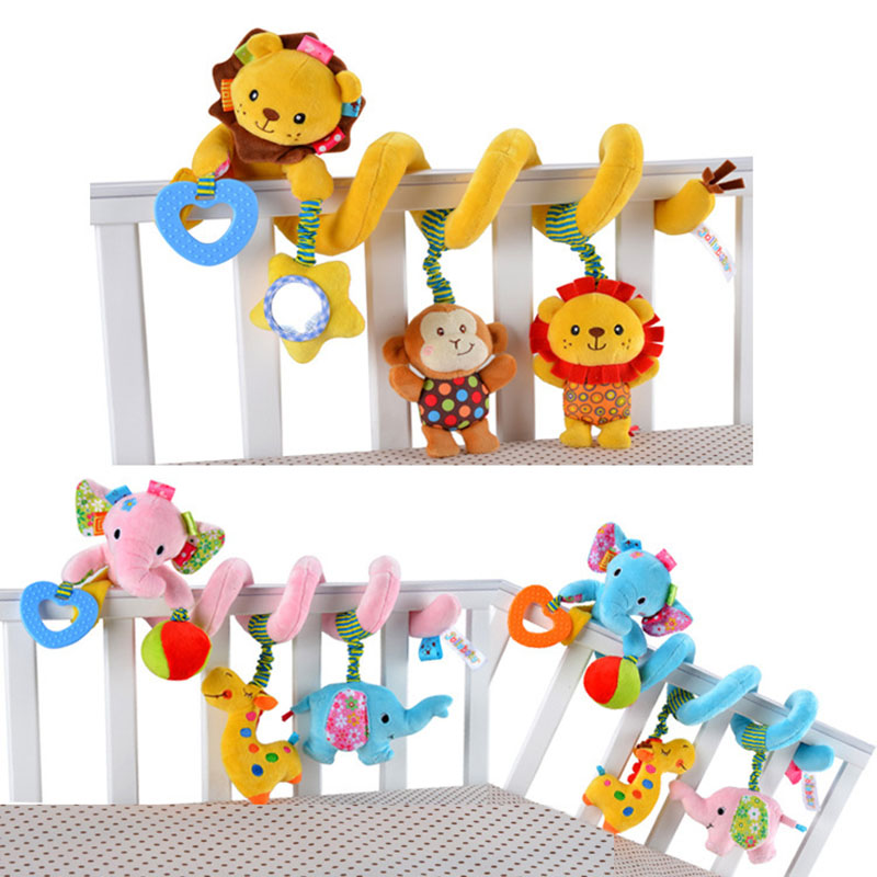 New Infant Baby Toys Revolves Baby Bed Rattles Toys 0-12 Months Play in Stroller Car Baby Mobile Toys -- BYC045 PT49(China (Mainland))