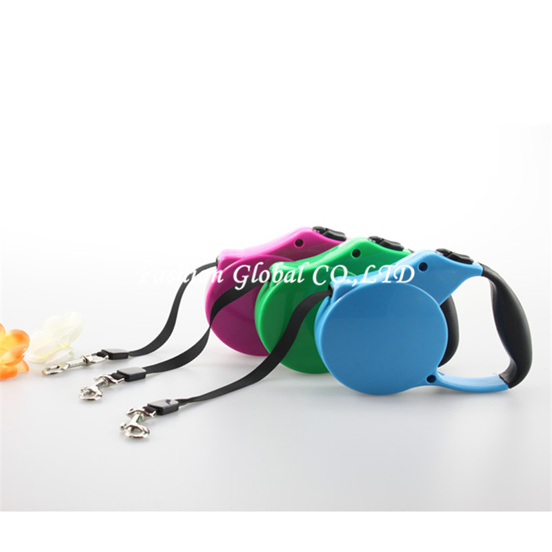 New Arrival Solid Color 3M 5M ABS Pet Dog Retractable Leash Lead for Medium and Small Pet Dog(China (Mainland))