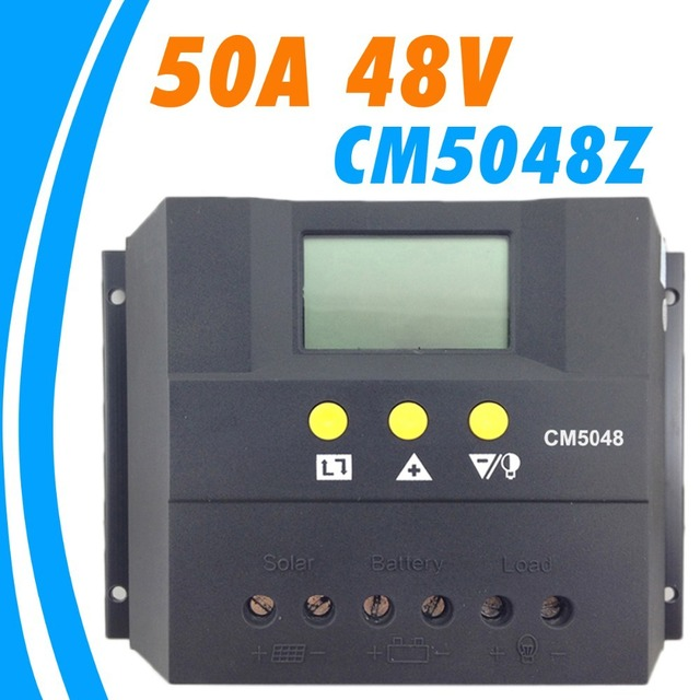 50A 48V Solar Controller PV Panel Battery Charge Controller Solar system Home indoor use PWM 50A Solar Controller Regulator