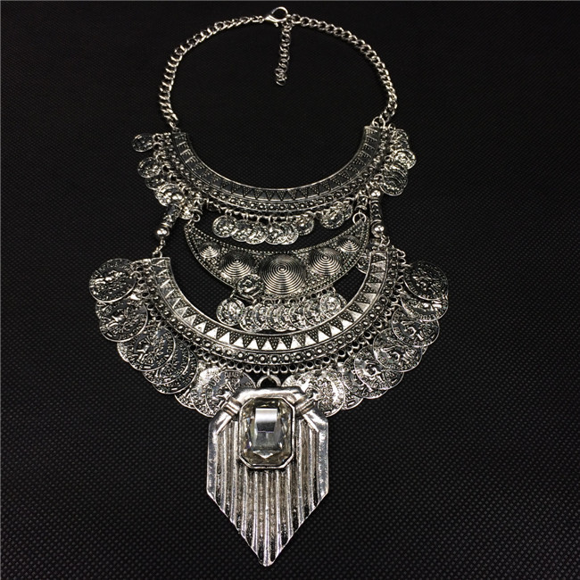 2016 Real Collares Colar Statement Necklace Choker Necklaces & Pendants Bohemian Fashion Long Coin For Women Jewelry Wholesale(China (Mainland))