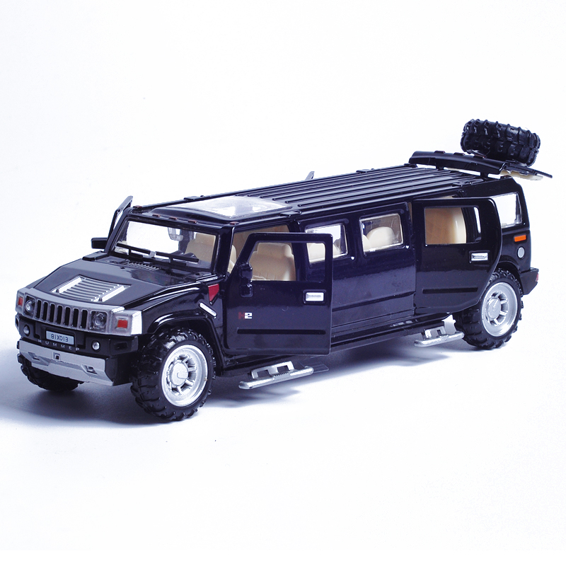 1:32 Scale Alloy Metal Diecast Car Model For Hummer Limousine Luxury Truck Collection Model Pull Back Toys Car(China (Mainland))