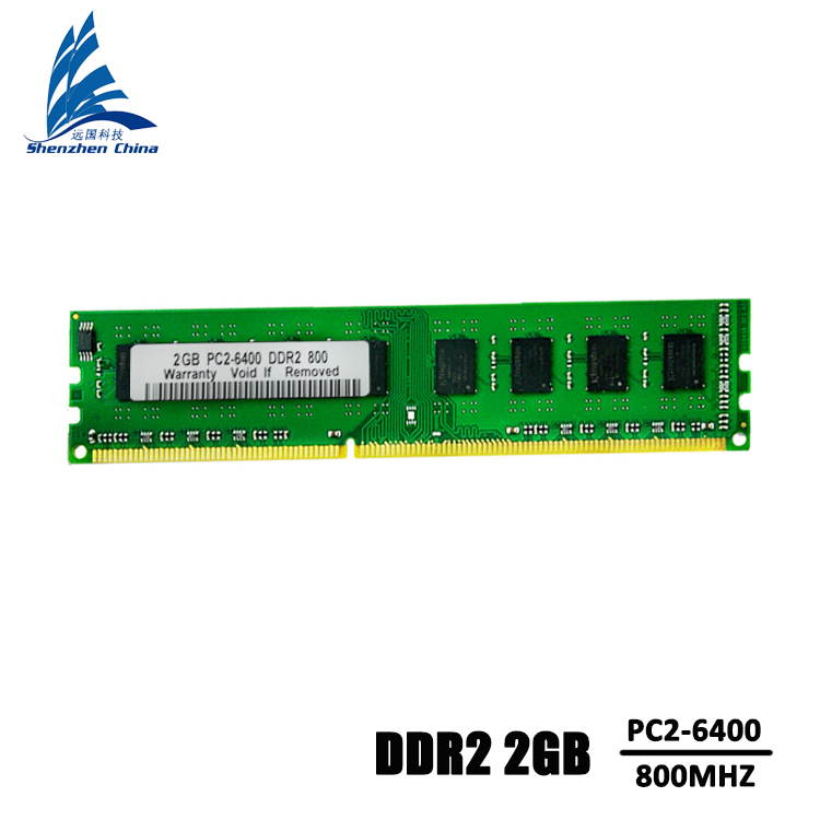 KVR DDR2 2GB 800MHZ Brand New Sealed ddr 2 1GB pc2-5300s pc2-6400s Desktop RAM Memory can with all PC sodimm ddr2 2gb compatible(China (Mainland))