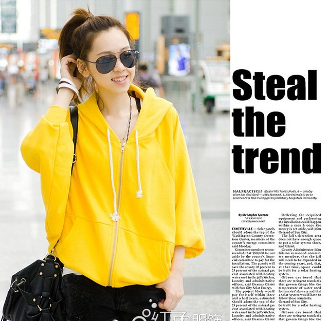 2012 new Arrival Women casual Hoodie Sweater/long-sleeved  sweater coat.Free shipping