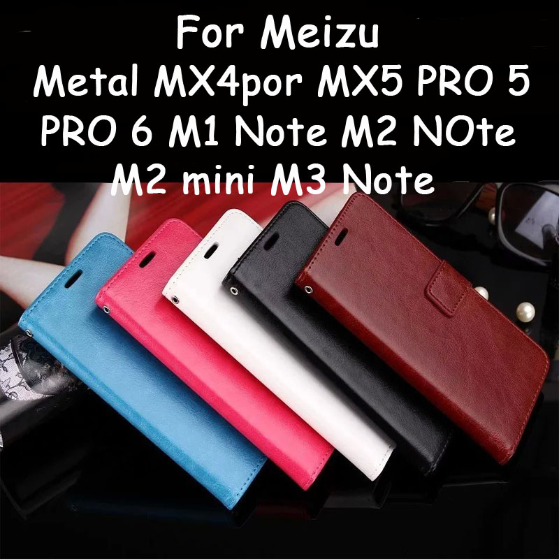 For Meizu M1 M2 M3 Note M2 Mini Metal Mx4 Pro Mx5 Pro 5 Pro 6 Vintage Wallet PU Leather Case Stand Card Holder Phone Bags Cover(China (Mainland))