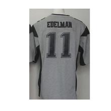 TOP-quality Men's 11 Julian 12 Tom 87 Rob Brady Adult Edelman Rob Gronkowski Gray Gridiron Gray Limited Free Shipping(China (Mainland))