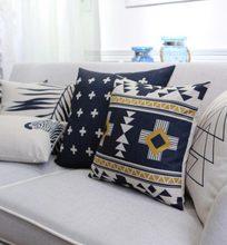 Free Shipping!!Geometric modern square throw pillow/almofadas case boy 45x45 53x53 60x60,nordic blcak cushion cover home decore(China (Mainland))