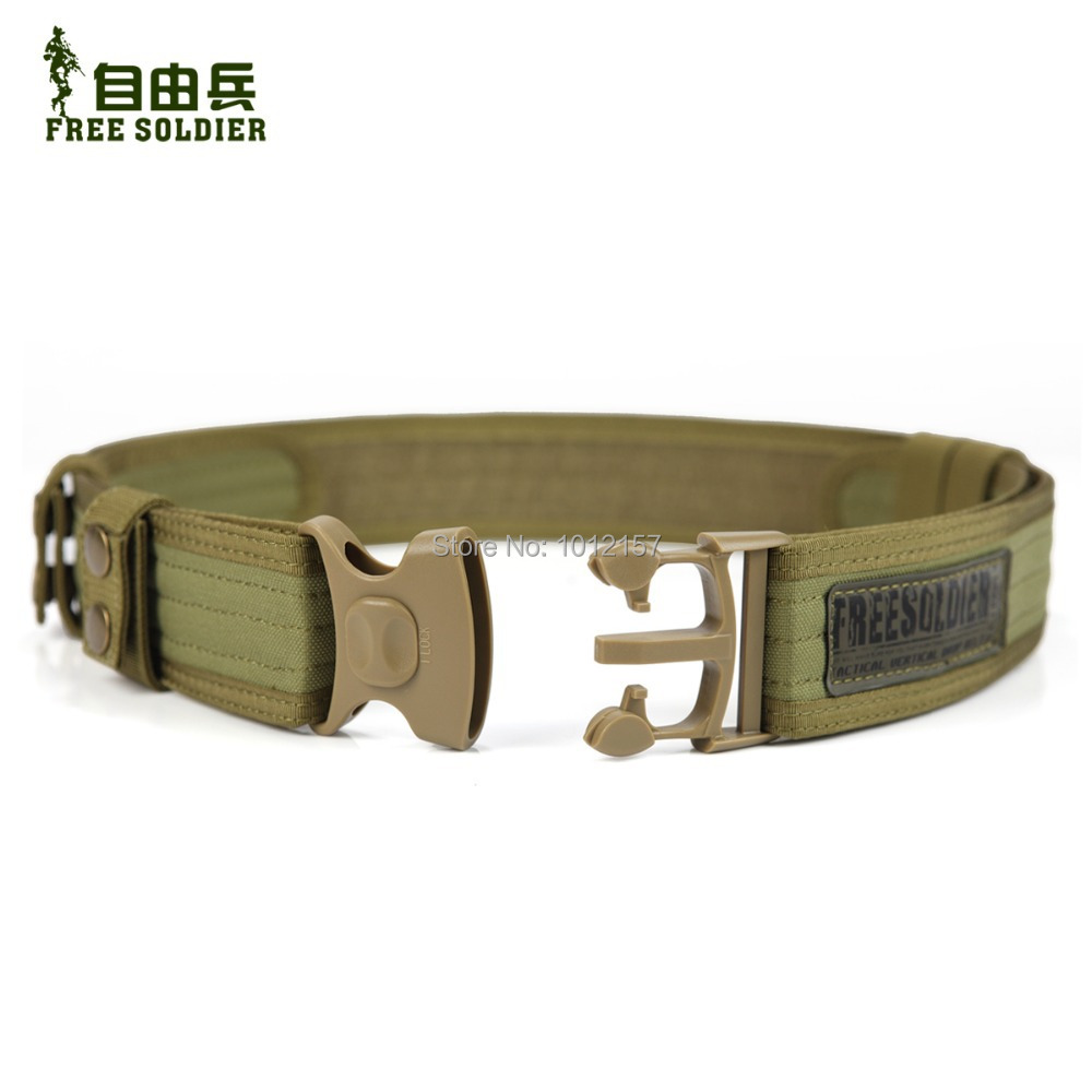 Outdoor camping tactical belt Brand New military accessories men tactical Army Belt Color Black Mud Size