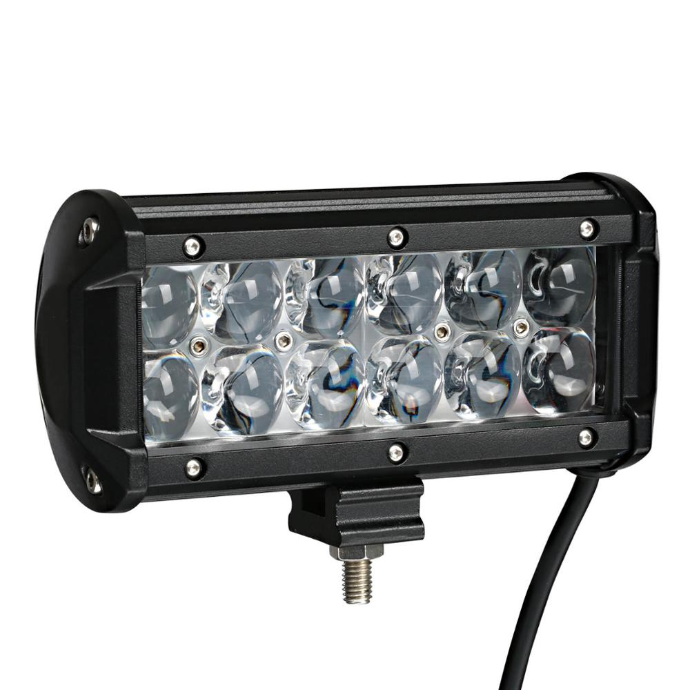 Tractor Led Replacement Light Bulbs : Weketory inch w d led work light bar for tractor boat