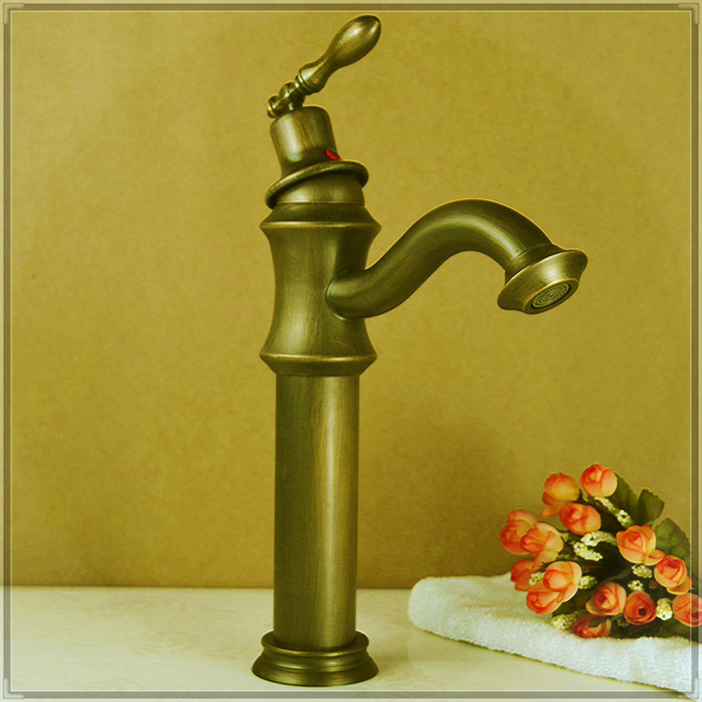 three holes 1pcs bathroom antique faucet sink single Hole Classic ...