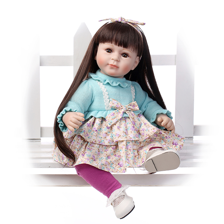 Baby alive doll reborn toys 52 CM lifelike fashion girl with long hair reborn toys for girls birthday gift free shipping<br><br>Aliexpress