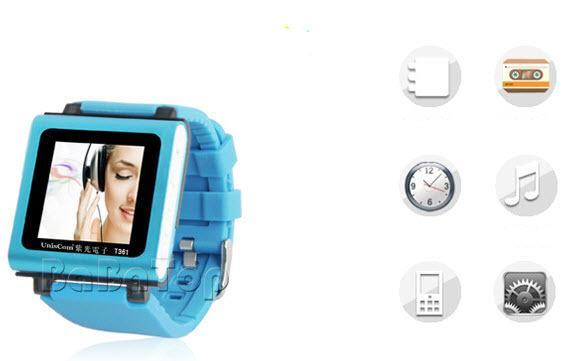 MP3 Players Fashion Sport Watch Mini Clip supports video and voice recording function Mp3 Music Player Walkman music watches 8G(China (Mainland))