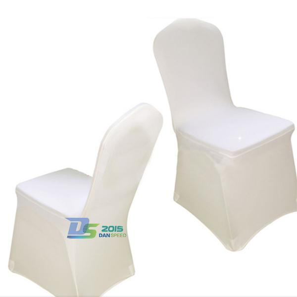 White Banquet Chair Cover Universal Venue Wedding Party Decorations Decor #FASHION(China (Mainland))