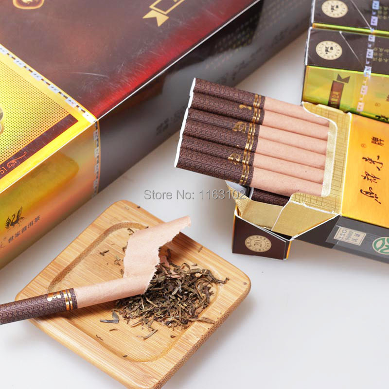 2015 New Arrival Chinese tea 100 Natural shu Puer Tea Smoke Cigarette Tea Health Care Food