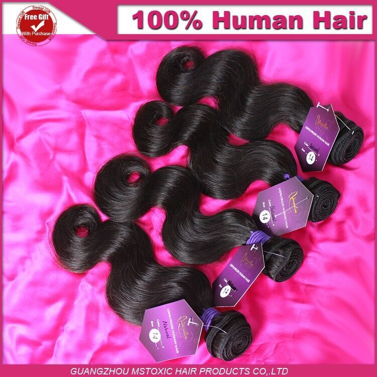 10A Grade Malaysian Virgin Hair Body Wave 4 pcs, Cheap Malaysian Hair Weave Bundles, Malaysian Virgin Body Wave Hair Extension(China (Mainland))