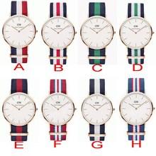 New 2015 Fashion Brand Luxury Daniel Wellington Watches DW Watch for men Fabric Strap Quartz Wristwatch