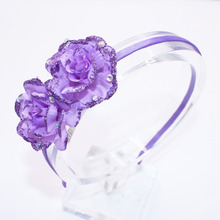Buy Children Solid Color Flowers Hair Band Baby Cute Hair Hoop Boutique Glisten Rhinestone Head Band Girls Hair Accessories for $1.36 in AliExpress store