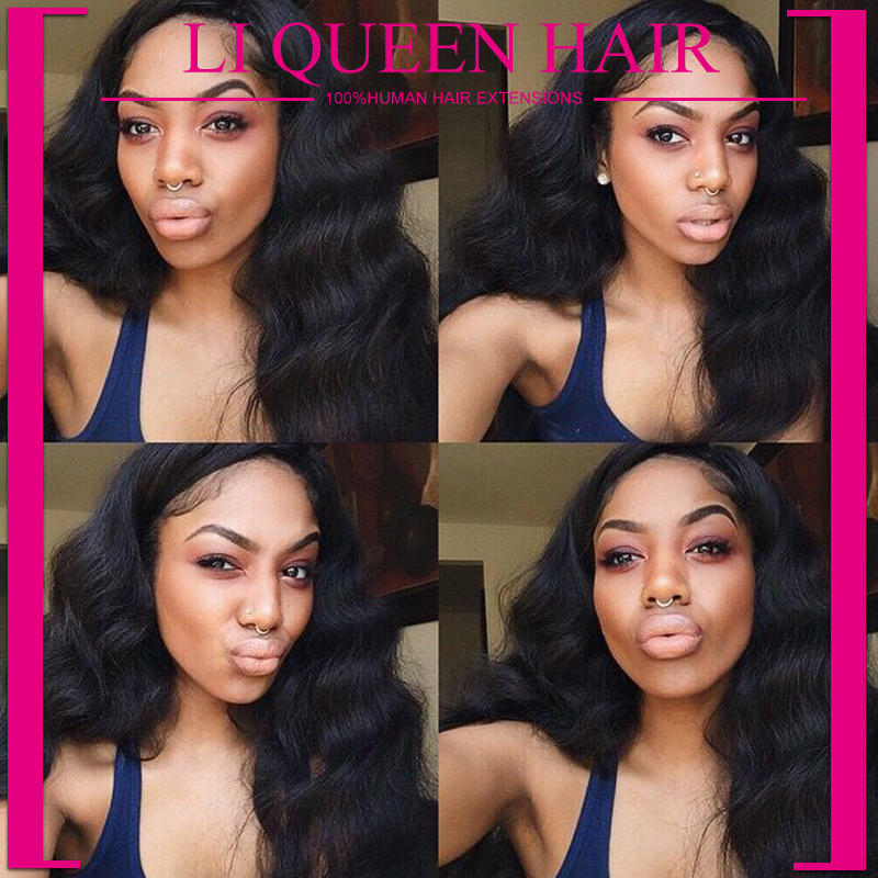 queen hair products brazilian virgin hair 3 bundles with closure Unprocessed virgin brazilian hair weave with lace closure(China (Mainland))