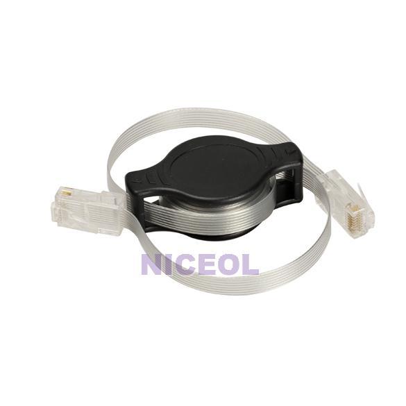 NI5L Portable Retractable RJ45 Ethernet LAN Internet Network Cable Black(China (Mainland))