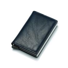 MaDonNo Secrid cartera hombres bolsa de dinero Mini bolso de hombre de aluminio Rfid tarjeta titular de la cartera pequeña y fina Cartera Smart cartera wallet(China)