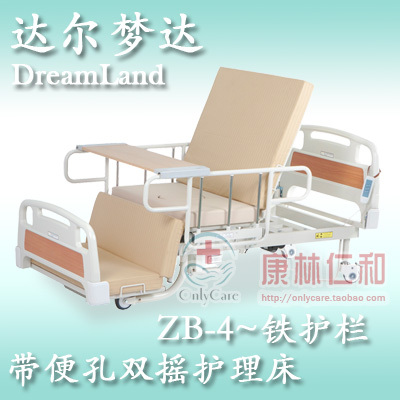 Electric nursing care bed electric hospital bed zb-4 belt iron guardrail