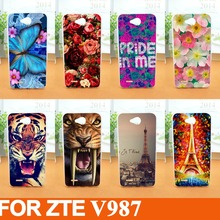 Buy fashion diy 3d painted colored animals flowers eiffel towers case Protector Cover ZTE V987 Grand X Quad V967S N980 for $1.40 in AliExpress store